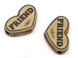 Сърце - Friend 9x12x4mm, отвор 2.5mm - 50g ≈ 70 бр.